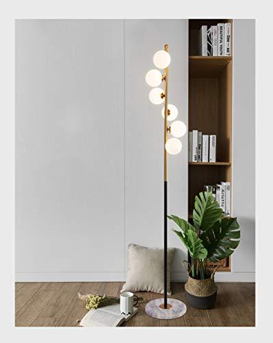 NIUZIMU Stehleuchte - postmodernes kreatives Wohnzimmer Schlafzimmer, Glaskugel Magic Bean Stehleuchte, Druckknopf Vakuum Plating Lamp Body -33 (Color : G4 white light) (Vakuum-klavier)