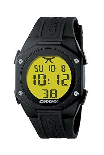 Carrera 4288823 - Reloj digital de cuarzo para hombre con correa de titanio, color gri