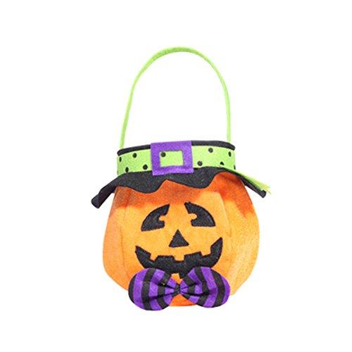 Xuxuou Halloween Tasche Süßigkeit Kürbis Tasche Kinder Tasche -