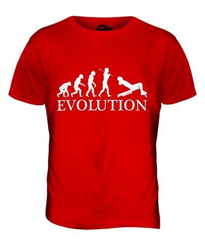 CandyMix Sit-Up Evolution Des Menschen Herren T Shirt Rot