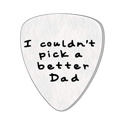 Gitarre Plektrum für Dad Papa Vater Vater Edelstahl Charm Anhänger Ich könnte Nicht Besser Pick A Dad