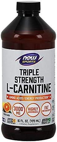 NOW Sports L-Carnitine Liquid, 3000 mg, 16 oz