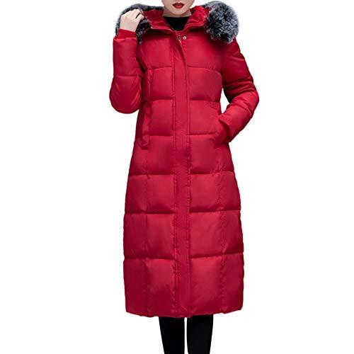 Cappotto donna,itisme cappotto parka con pelliccia cappuccio lungo allineato pelliccia piumino imbottito giubbino femminile invernali giacca cappotto jacket giacche cappotti con cappuccio