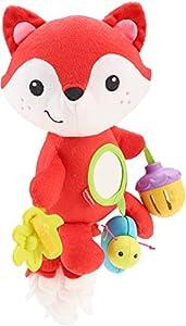 Fisher-Price Zorrito de Actividades, Peluche y Juguete para Bebés Recién Nacidos (Mattel CDN56)