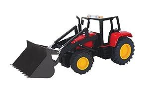 Dickie  de Juguete 203735002-Tractor con Carga Frontal Farm Tractor
