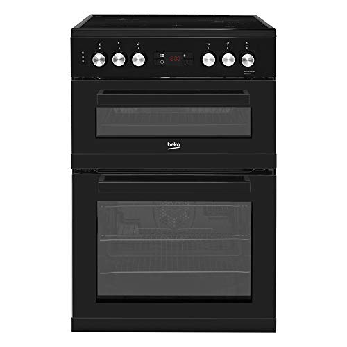 413ANjUCUzL. SS500  - Beko KDC653K 60cm Double Oven Ceramic Cooker in Black with Fully Programmable Timer