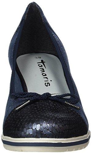 Tamaris 22461, Scarpe con Tacco Donna Blu (NAVY STRU.COMB 830)