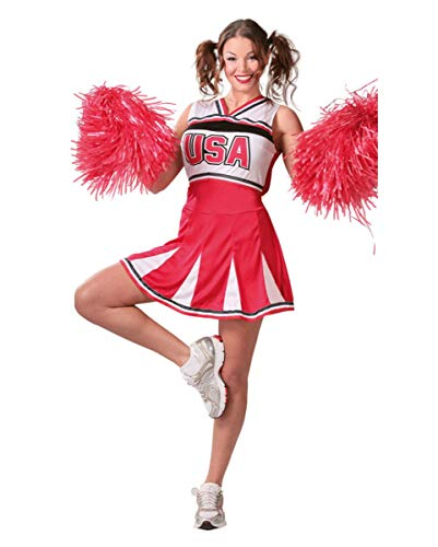 Horror-Shop Highschool Cheerleader Kostüm | S-XL ()