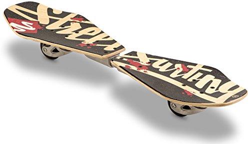 Streetsurfing Rider Sundown 500080 - Waveboard di legno ondulato