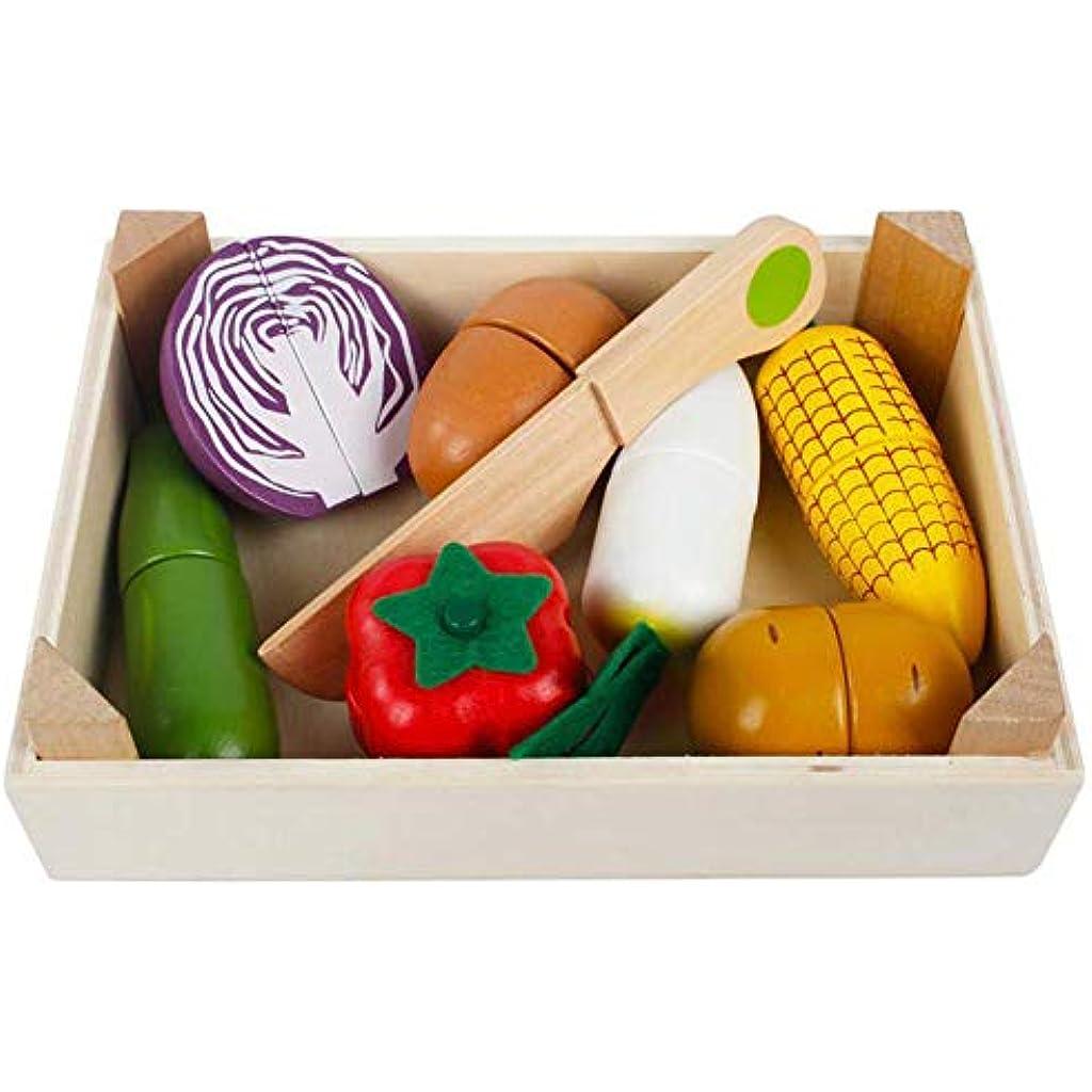 Cocina X 14 Imán18 Verduras Con Madera Juguete Cm16 Piezas EW29DHI