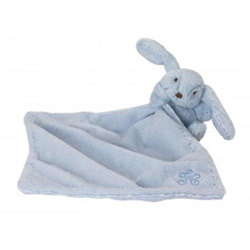 TARTINE ET CHOCOLAT - Doudou Augustin, le lapin - Blu chiaro, 12 cm