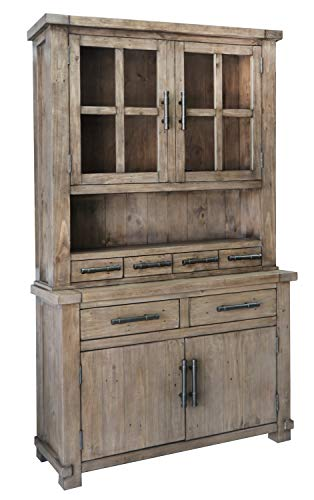 The Wood Times Kommode Schrank Vintage Look Massiv Industrial Kiefer FSC Recycled, BxHxT 120x85x45 cm - 5