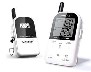 Ivation - Set da 2 termometri wireless per monitorare a distanza la temperatura della carne che cuoce, fino a 90 metri di distanza
