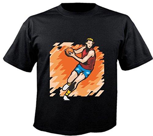 Motiv Fun T-Shirt Handball Fussball Volleyball Basketball Club Motiv Nr. 6223 Schwarz