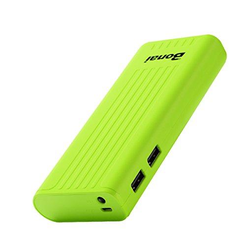 BONAI Powerbank 10000mAh Externer Akku mit LED-Leuchten Handy Ladegerät für iPhone XS 8 8Plus 7 6s 6Plus, iPad, Samsung Galaxy und weitere Smartphones(Grün)