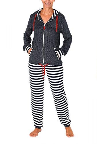 Normann Copenhagen Damen Frottee Hausanzug - ideal auch als Homewear - auch in Übergrössen - 271 216 93 200, Größe:44/46;Farbe:Tupfen