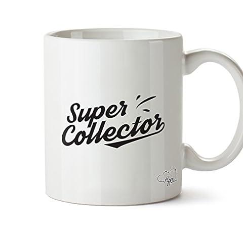 Hippowarehouse Super Mug Collector 283,5gram Tasse, Céramique, blanc, One Size (10oz)