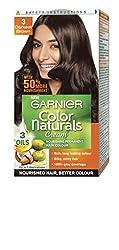 Garnier Color Naturals Cream 3 Darkest Brown, 29ml+16gm