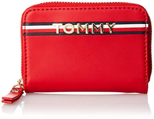 Tommy Hilfiger Damen Corp Leather Mini Za Geldbörse, Rot (Tommy Red), 8x2.5x12.5 cm
