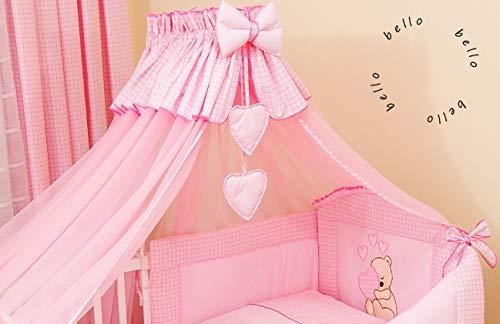 3 piezas. Mosquitera para cama con dosel de gasa, 320 x 480 cm rosa Rosa Talla:480cm