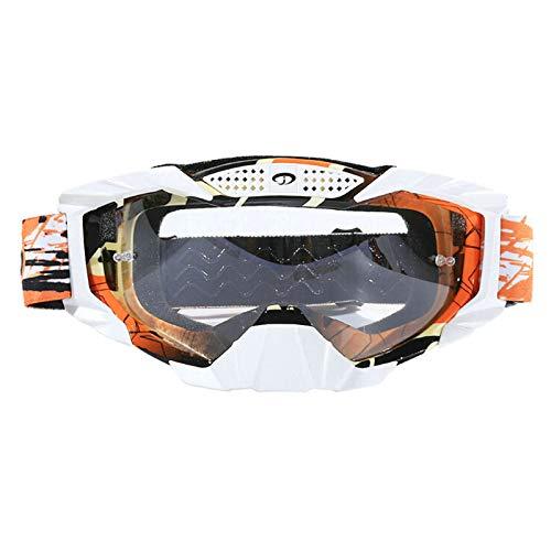 Anyeda Sportbrillen für Fahrräder Herren TPU Vollsichtbrille Bolle Orange Weiß
