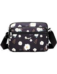 5ba134591aa62 Hasun Wasserdicht Nylon Schultertasche Reise Outdoor Umhängetasche Damen  Casual Handtaschen Mode Blumenmuster Messenger Bag