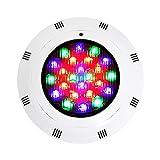 LED Unterwasser-Schwimmbad-Leuchten, 18W RGB-Farbwechsel, 12V AC, IP68 wasserdichte Wandoberfläche montiert, Tauchboden Inground Pool Licht mit Fernbedienung
