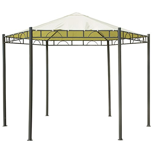 Charles bentley 3.5m esagonale beige gazebo canopy patio garden wedding marquee tenda