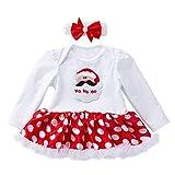 Babykleidung,Sannysis 2Pcs Säugling Neugeborenes Baby Mädchen Langarm Brief Drucken Prinzessin Kleid Tutu Kleid + Haarband Set Weihnachten Outfits
