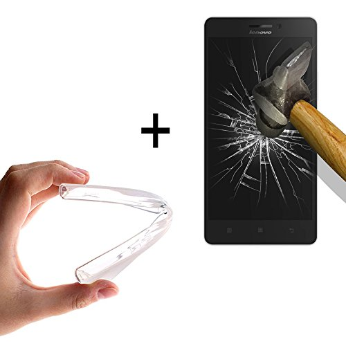 WoowCase - [ Lenovo Vibe Shot Schutzhülle Silikon Transparent [ +1 Schutzglas ] 9H Panzerglas Bildschirm Schutzfolie, Hülle Case TPU