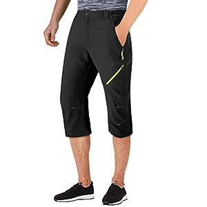 413AVOeQpqL. SS300  - TACVASEN Lightweight Breathable Men's Outdoor Sports 3/4 Shorts with Zipper Pockets