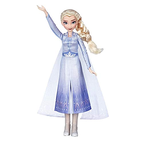 Disney Frozen Singing Elsa Fashion Doll with Music Wearing Blue Dress Inspired by Disney Frozen 2, Toy For Kids 3 Years and Up