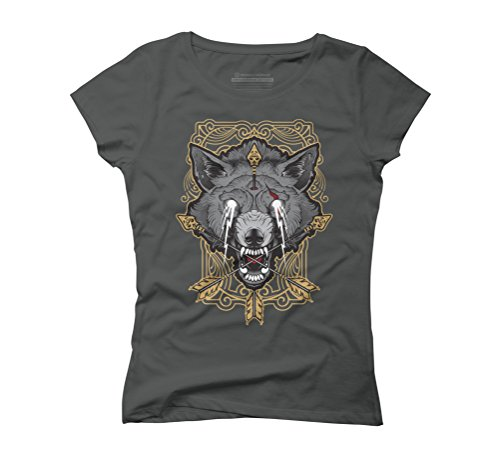 Wolf totem Women's Graphic T-Shirt - Design By Humans Anthracite
