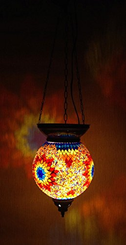 Mosaic Lamp – XL Oriental Ceiling Lamp Orange Star Samarkand Ceiling Light Lights