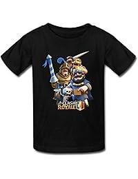 Nanciy Waird® Kinder's Clash Royale Game Art Round Collar T Shirt (XXXX-Large)