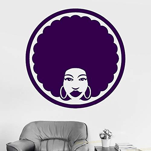 Vinyl Wall Decal Afro Frisur Friseur Black Lady Aufkleber Abnehmbare Barber Shop Wandtattoos Schönheit Winsow Decor Farbe-3-10 30x30cm