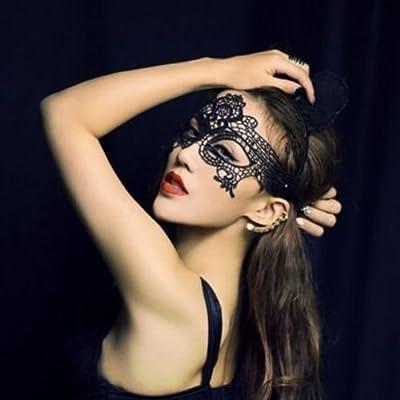 Black Sexy Lace Mask Catwoman Bondage Night Club Belly Dance