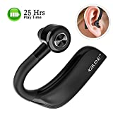 GRDE Bluetooth Headset Handy 25 Stunden Business Headset Bluetooth V4.2 Bluetooth Kopfhörer Sport mit Lärmreduzierung Freisprechen HD Mikrofon für Business Büro Fahren Joggen usw