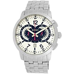 Roberto Bianci Gents 'Pro Racing' Stainless Steel Chronograph Watch with Black Dial