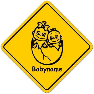 Road Sign Baby Schild mit Saugnapf - Motiv Z3-MJ