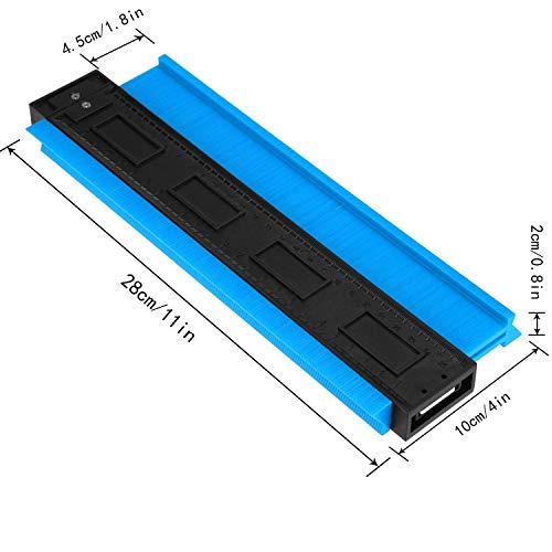 Medidor de contorno de suelo Medida Medidor de forma irregular Medidor de perfil 2 Piezas Duplicadora de medidor de perfil de copiadora de contorno rojo de 10 pulgadas y azul de 5 pulgadas