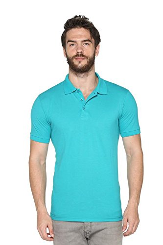 Harbor N Bay Mens Stylish Polo T-Shirt(OS-173-Turquoise-2XL, XX-Large)  available at amazon for Rs.299