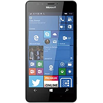 Microsoft Lumia 950 Smartphone, 32 GB, Nero [Italia]