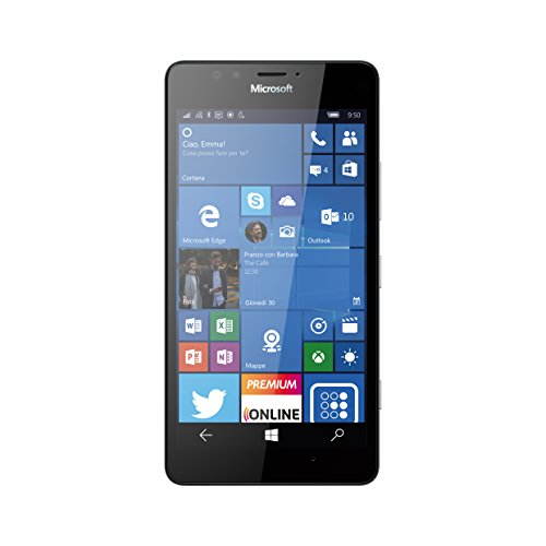 Microsoft Lumia 950 32GB 4G Negro - Smartphone (SIM única, Windows 10, NanoSIM, EDGE, GSM, WCDMA, LTE)