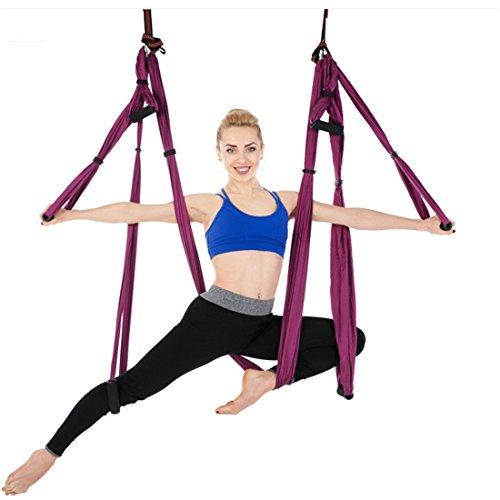 Yeying123 Hamaca de Yoga para Fitness al Aire Libre, Color Paracaídas, Multifuncional,...