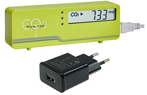 TFA-Dostmann CO2-Messgerät AirCO2ntrol mini grün TFA 31.5006.04+ incl. Stecker-Netzteil
