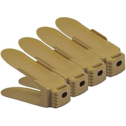 XJM KIU rastrelliera per scarpe di plastica superiore e inferiore/