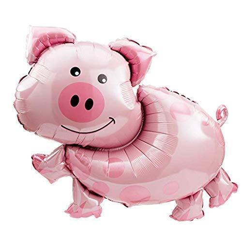 Saino Peppa Pig Folie Ballon Luftballons, Kinderparty-Ballone für Farm Animal Theme Birthday Party.