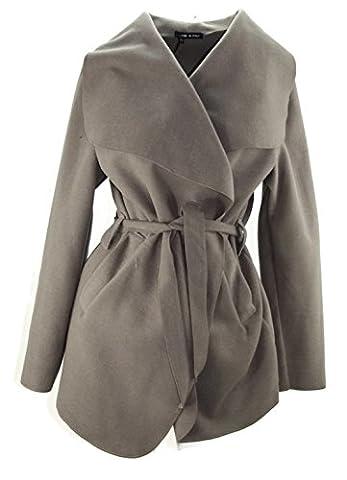 #4059 Damen Trenchcoat Mantel Übergangsjacke Volant Wintermantel Wollmantel 34 36