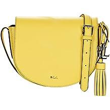 Ralph Lauren - Bolso de asas para mujer amarillo amarillo